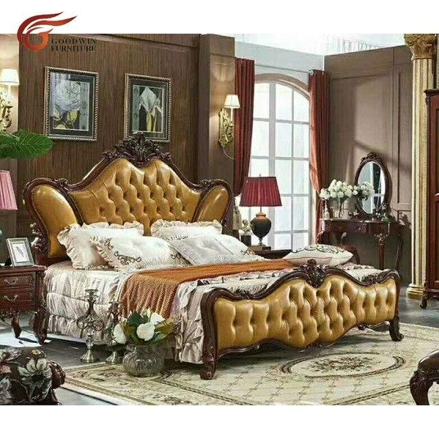 European Style Bedroom Furniture Set Luxury Wood Double Bed Designs Wa588 Beds Aliexpress
