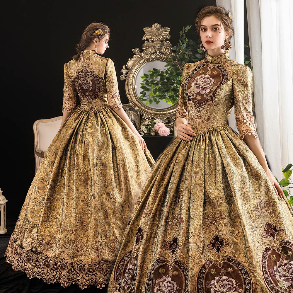 Gothic Lolita Dress Halloween Costumes For Women Princess Costume Cosplay Dress Victorian Costume Royal Sissy Dress Vintage