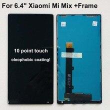"""100% orijinal 6.4 """"Xiaomi Mi Mix /Mi Mix Pro 18k sürüm LCD ekran + dokunmatik panel sayısallaştırıcı çerçeve MI Mix için ekran"""