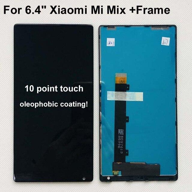 """100% oryginalny dla 6.4 """"Xiaomi Mi Mix /Mi Mix Pro 18k wersja ekran wyświetlacz LCD + Digitizer Panel dotykowy rama dla MI Mix wyświetlacz"""