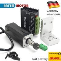 EU Free Vat 104W ER11 Brushless square spindle motor CNC kit & DBD200 24V brushless driver with spindle clamp