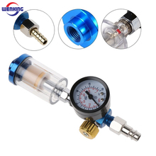 High Quality Spray Gun Air Regulator Gauge + In line Water Trap Filter Tool + JP/EU/US Adapter Pneumatic Spray Gun Accessories