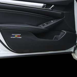 Image 3 - Anti dirty anti kicking the door mat mat For 10th Honda Accord 2018 2019 interior conversion decorative accessories Leather door