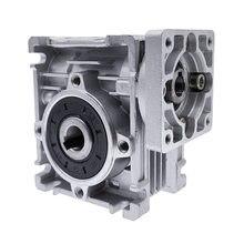 Velocidade redutor verme motor dc caixa de velocidades rv030 14mm saída 5:1-80: redutor de velocidade da caixa da engrenagem do worm para o motor nema 23