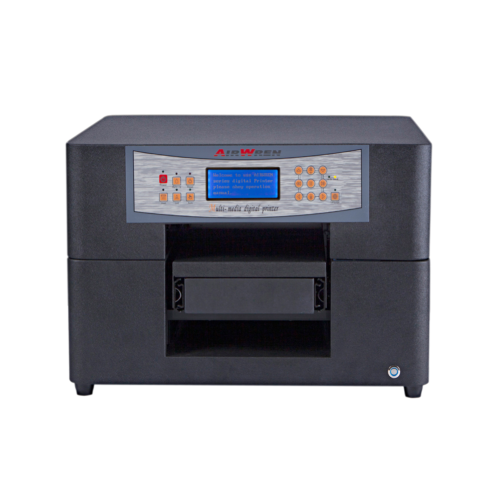 Fully Automatic A4 UV Flatbed Printer 6 Colors Fast Digital Printing Machine For Phone Case ,plastic Card,wood,glass Etc