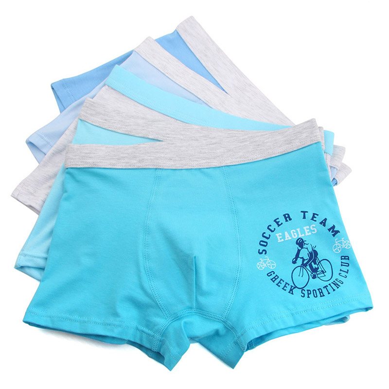 5pcs/lot Cartoon Plus Size 2XL-7XL Modal Cotton Children Underwear Kids Shorts  Boys Boxers Panties Teenager Underpants