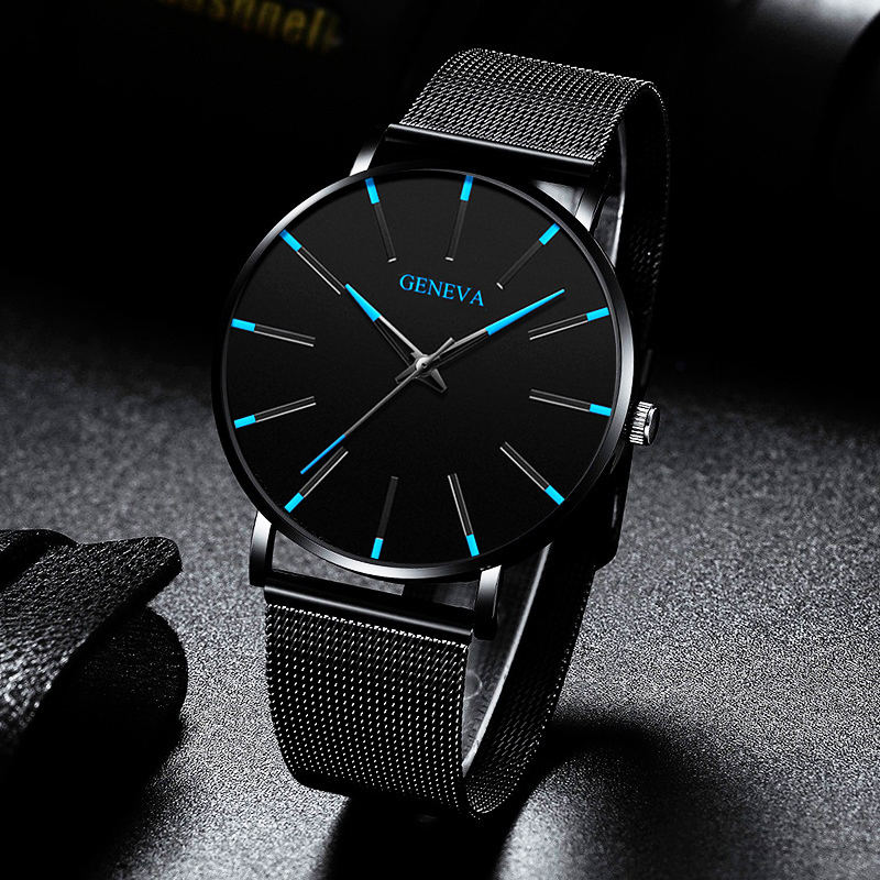 Reloj Hombre 2020 Mens Minimalist Watches Ultra Thin Mesh Belt Watch Luxury Men's Watch Business Casual Quartz Wristwatch