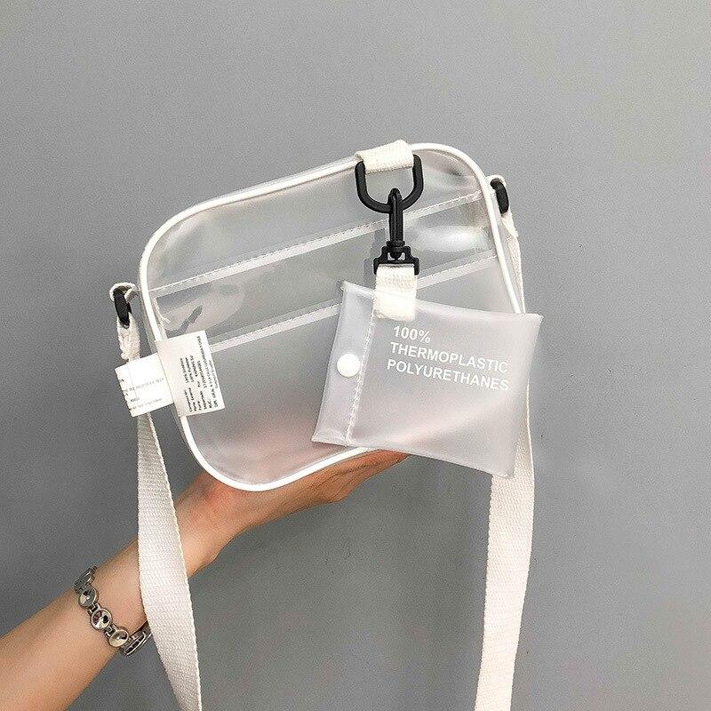 Hot PVC Transparent Woman Bag Shoulder Bags Crossbody Shoulder Handbag Jelly Small Phone Bags With Ladies HandBags