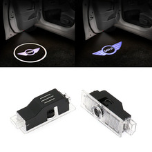 цена на 2x LED Car Door Logo Light Courtesy Laser Projector Lamp For Mini Cooper R53 R55 R56 R57 R58 R59 R50 R60 Clubman F55 F56 R52