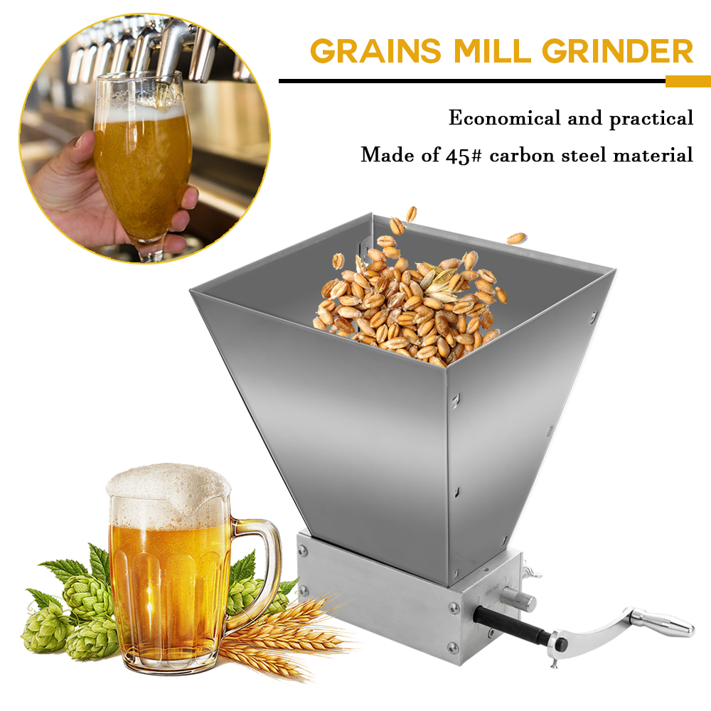 Whole Grains Mill Grinder Food Processors Superfine Large Manual Powder Machine Stainless Steel Malt Food Grinder Crusher Grain