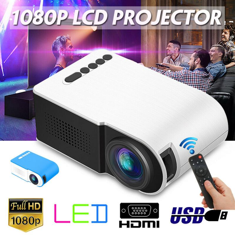 2020 NEW 7000 Lumens 1080P Mini LED Projector Home Cinema Theater Video Multimedia HDMI/USB/VGA