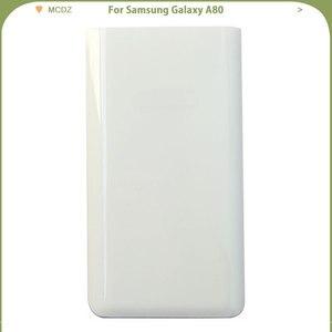 Image 4 - Yeni A80 Samsung Galaxy A80 telefonu pil kapağı arka kapak arka kapı konut