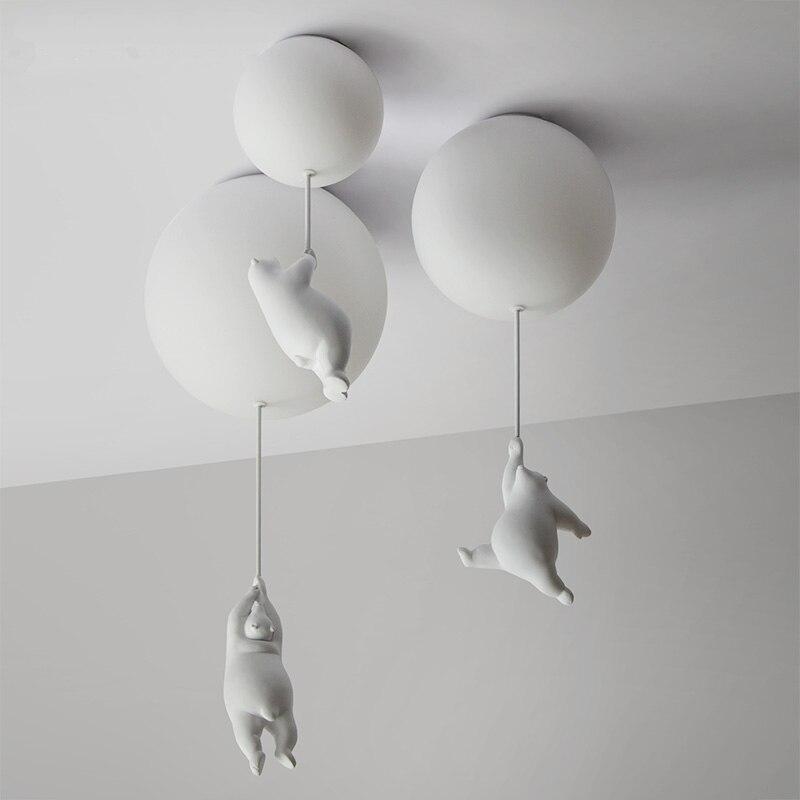 Urso dos desenhos animados modernos luzes de