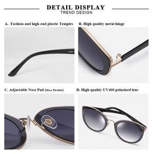 Image 3 - PARZIN 럭셔리 편광 선글라스 여성 경량 TR90 프레임 코팅 미러 렌즈 여름 여성 선글래스 브랜드 디자이너