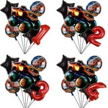 Blaze – voiture de course, décorations de fête, machine monstre, ballon numérique 32 pouces, fête d'anniversaire, cadeaux pour garçons, fournitures de réception-cadeau pour bébé