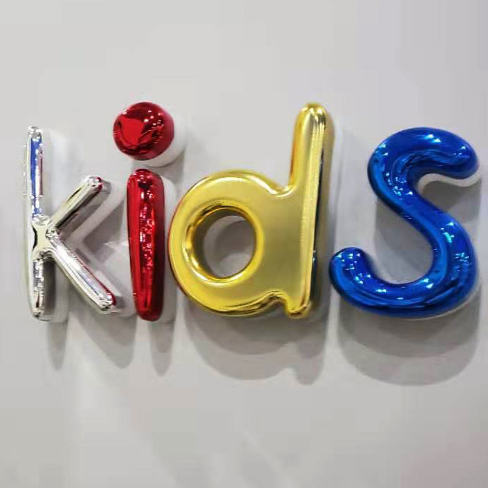Customize High Quality Vacuum Coating Acrylic Led Backlit Letter 3D Colorful Waterproof Letter Sign