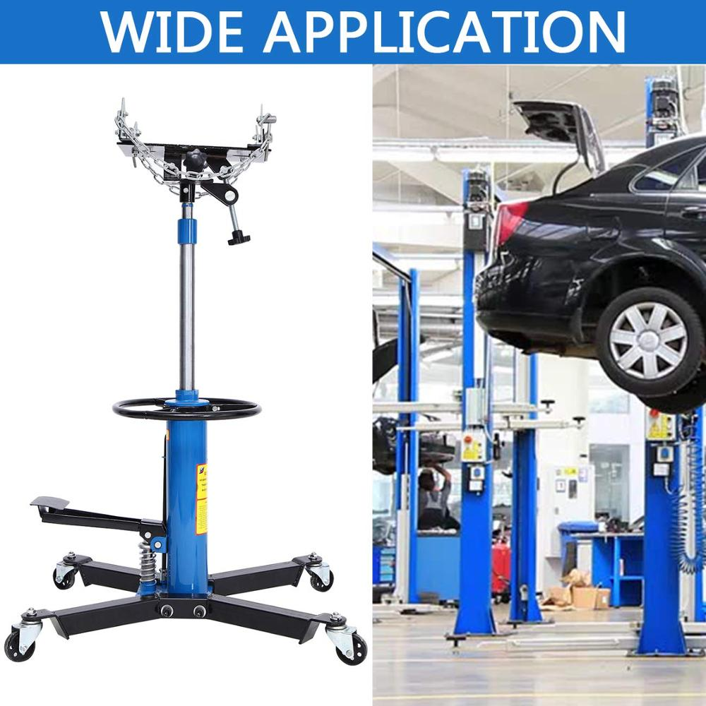 Samger Hydraulic Jack Lift Tire Repair Tool Car 1100LBS Transmission Jack Adjust 360 Degree Swivel Wheel Lift Hoist 0.5Ton