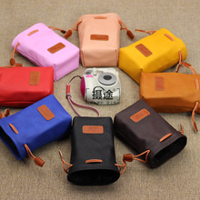 CamDress free shipping high quality photography lens bag pu leather camera 3 size candy color photo lsr