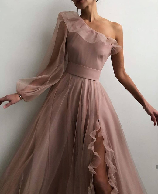 SoDigne A line Evening Dress Short 2021 Simple Evening Gown Long Sleeves Robe De Soiree Formal Party Dresses Custom made 4