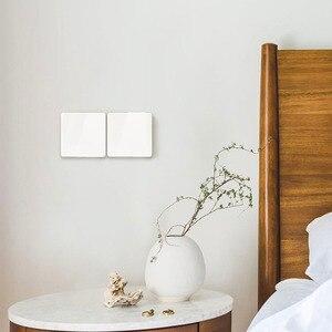 Image 2 - 2020 Xiaomi Mijia Wand Schalter Einzel Doppel dreibettzimmer Öffnen Dual Control Schalter 2 Modi Schalter Über Intelligente Lampe Lichter Schalter