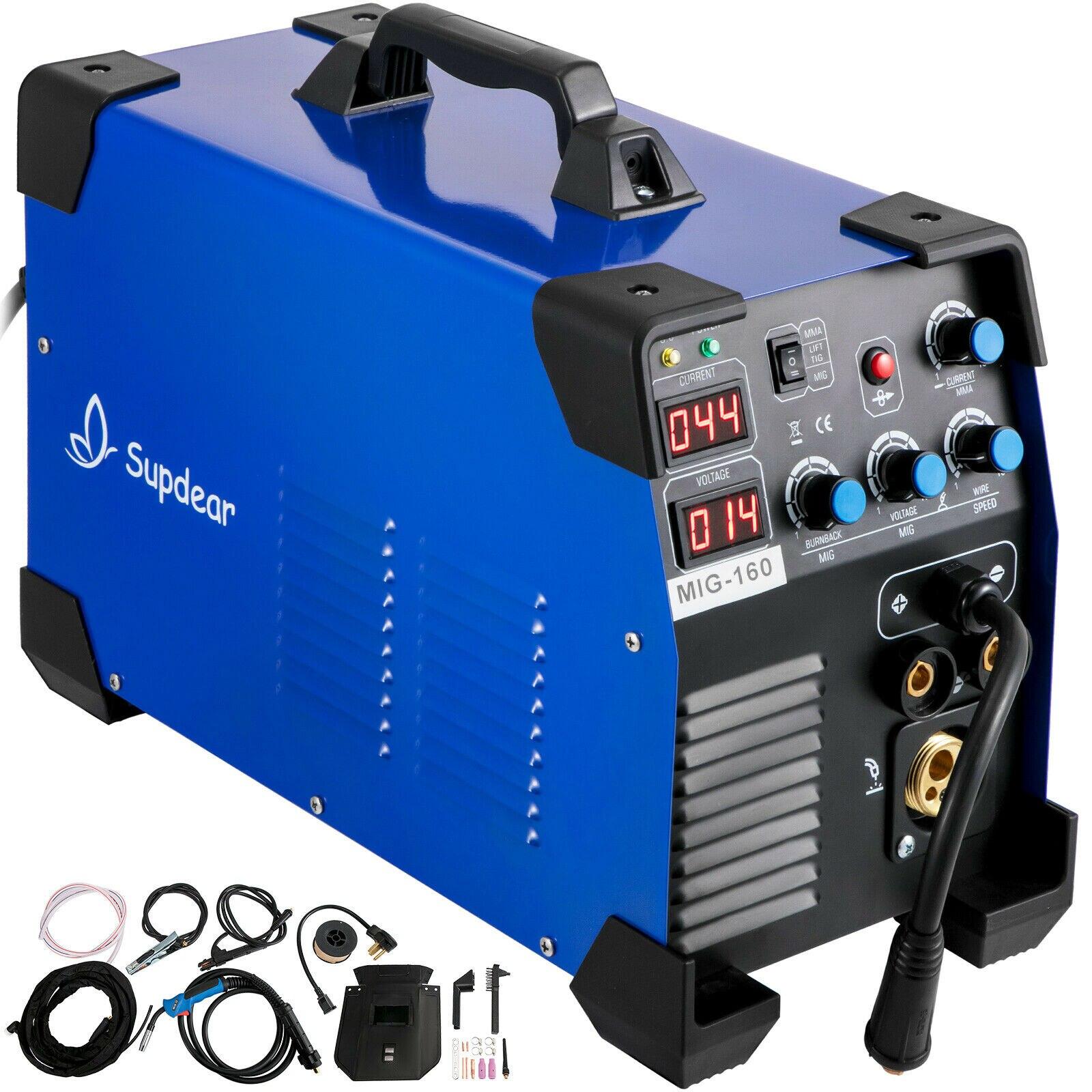 MIG Welder Welding Machine 160 Amp IGBT MIG MMA TIG 3 In 1 Welder 110V / 220V