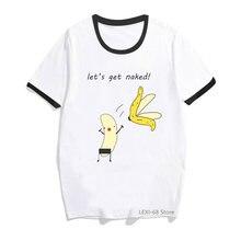 Лидер продаж 2020 женские футболки с принтом «банан любовь»