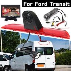 HD tylna kamera samochodowa światło hamowania rewers Backup Parking Night Vision wodoodporny monitor dla Ford Transit Custom 2015-2018