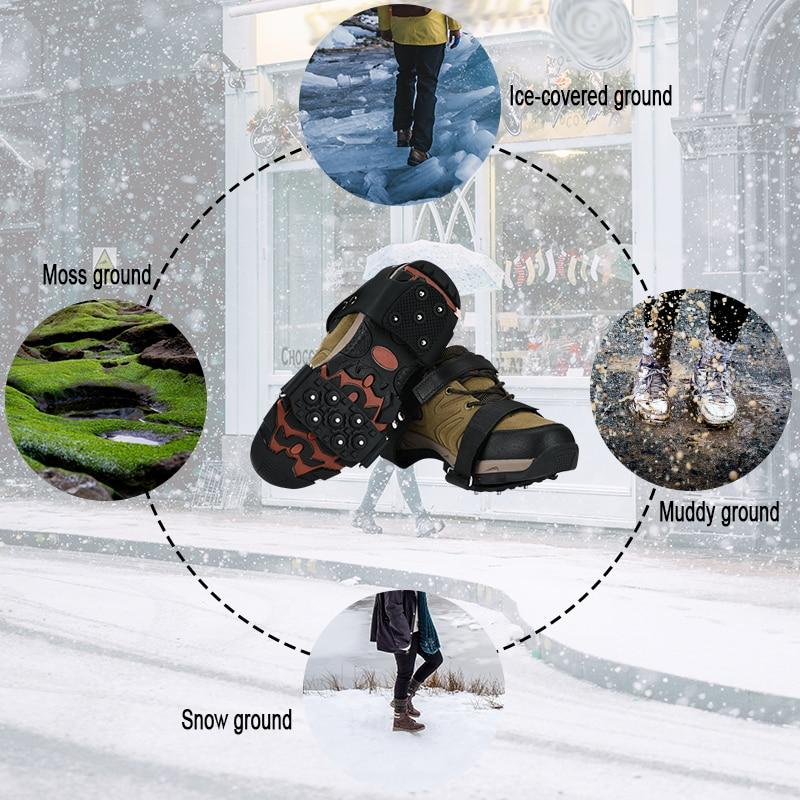 Купить 12 серьги гвоздики льда когти анти скольжения альпинистские