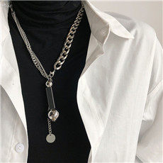 AOMU-Exaggeration-Multi-Layer-Thick-Chain-Necklace-Sweater-Chain-Metal-Geometric-Beads-Necklace-For-Women-Men