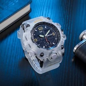 Image 4 - SKMEI montre de Sport pour hommes, Top marque, militaire numérique, étanche 5 bars, double affichage, étanche