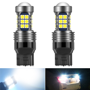 T20 7440 1156 BA15S T15 P21W LED Canbus Error Free Bulb WY21W Backup Reverse Light For BMW E36 E46 E34 X3 X5 E53 3/5 SERIES E30 image
