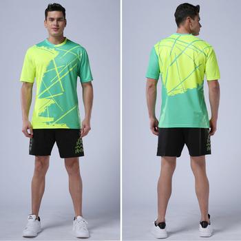 Męskie koszulki z krótkim rękawem koszulki z krótkim rękawem O-neck Fitness koszulki z krótkim rękawem Sport Golf koszulki z badmintona topy stół treningowy tenis Tshirt tanie i dobre opinie NoEnName_Null POLIESTER SHORT Sukno Tennis T Shirts Pasuje na mniejsze stopy niezwykle Proszę sprawdzić informacje o rozmiarach ze sklepu