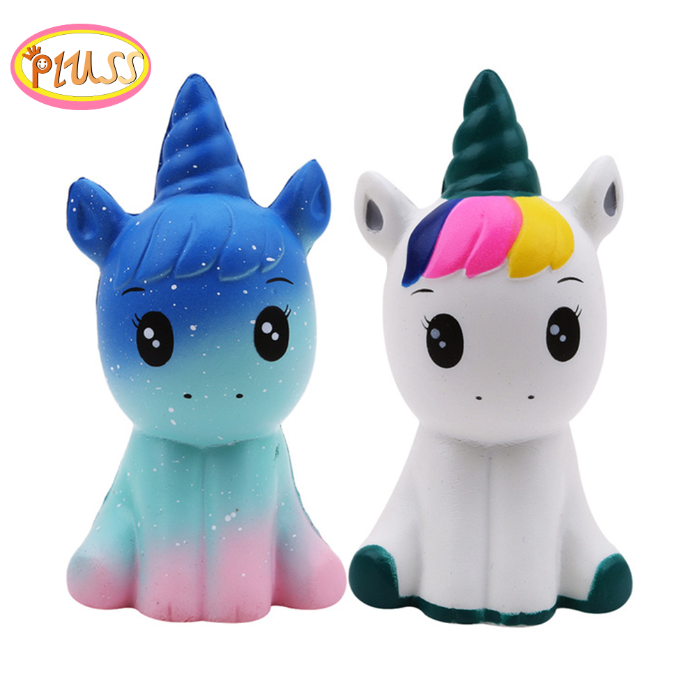 New 12CM Squishy Cute Unicorn Simulation Animal Doll PU Squishy Slow Rising Cream Scented Wholesale Exquisite Kids Xmas Gifts