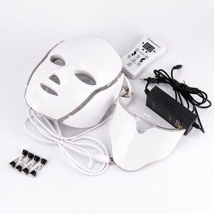 Image 5 - Маска для лица со светодиодсветодиодный светильник кой, омоложение кожи шеи и шеи, лечение акне, отбеливание, 7 цветов