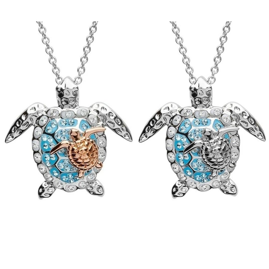 Earrings Women Crystal Turtle Dangle Earrings Rhinestone Pendant Jewelry Gift TO