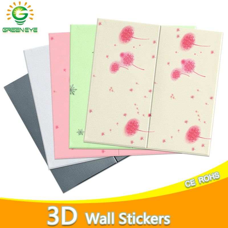 3D Wallpaper New DIY 3D Brick Stone Pattern Waterproof Stickers Home Self-Adhesive Floral Prints Wall Papers For Kitchen Bedroom