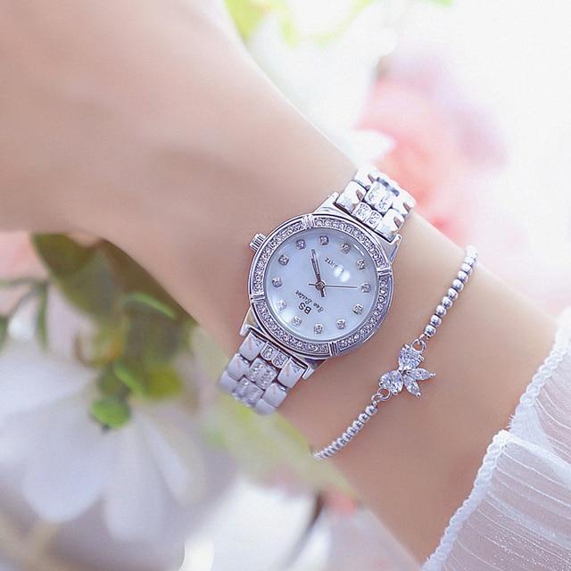 Women Watch Luxury Brand Fashion Rose Gold Diamond Crystal Ladies Quartz Watches Rhinestone Wristwatch Women Bayan Kol Saati