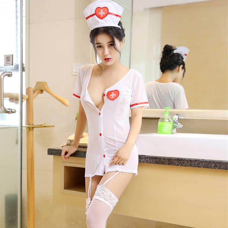 Сексуальный эротический костюм медсестры, костюмы, сексуальное женское белье, Экзотическая одежда, ролевые игры, эротическое пикантное женское бельё, нижнее белье, комбинезон униформа