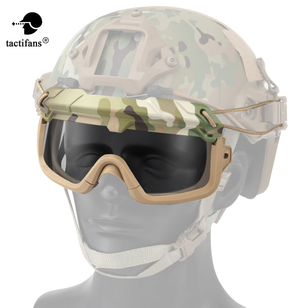 Tactical Airsoft Goggles For Helmet Safety Clear Glasses Eyes Protection Shooting CS Game Anti-fog Paintball Hiking Eyewears
