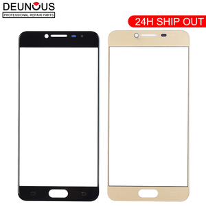 New For Samsung Galaxy C5 C5000 C7 C7000 C9 Pro C9000 Touch Screen Panel Front Outer Glass Lens Black White Gold(China)