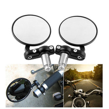 1 Pair  Motorcycle Rear View Mirror Round 7/8Handle Bar End Side Rearview Mirrors Bicycle Auto Parts C69