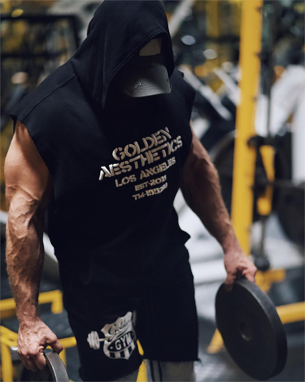 Men's Fit Sleeveless Hoodie Bodybuilding Gyms Tank Tops Crossfits Workout Sleeveless Jackets Terry Top Male