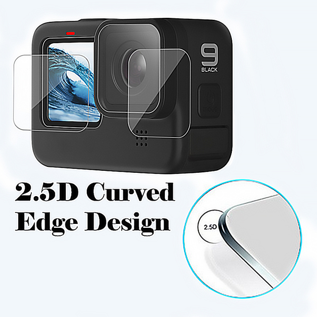 Tempered Glass Screen Protector Cover Case for GoPro Hero 9 Black Lens Protection Protective Film Gopro9 Go pro Accessories 4