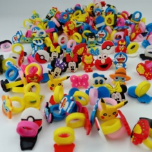 20pcs Mix shipment Children Ring Accessories Cartoon Soft Silica Ring Wedding Bands phone rings accessories Jewelry Accessories