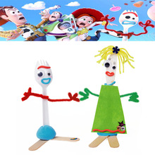 10PCS Diy Forky Buzz Lightyear Toy Story 4 Cartoon Woody Jessie Action Figure Collectible Doll Toys for Children 14cm