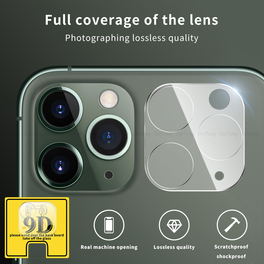 9D Camera Glass For IPhone 11 Pro Tempered Camera Lens Glass Protector For IPhone 11pro Max 2019 HD Clear Rear Phone Lens Cover