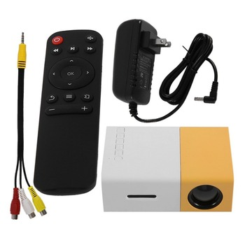 Professional Mini Projector Full HD1080P Home Theater LED Projector LCD Video Media Player Projector Yellow & White