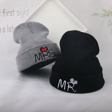 Fashion Letter Embroideried Knit Hats Boys Girls Winter Beanie Caps Windproof Warm Kids Boy Hat