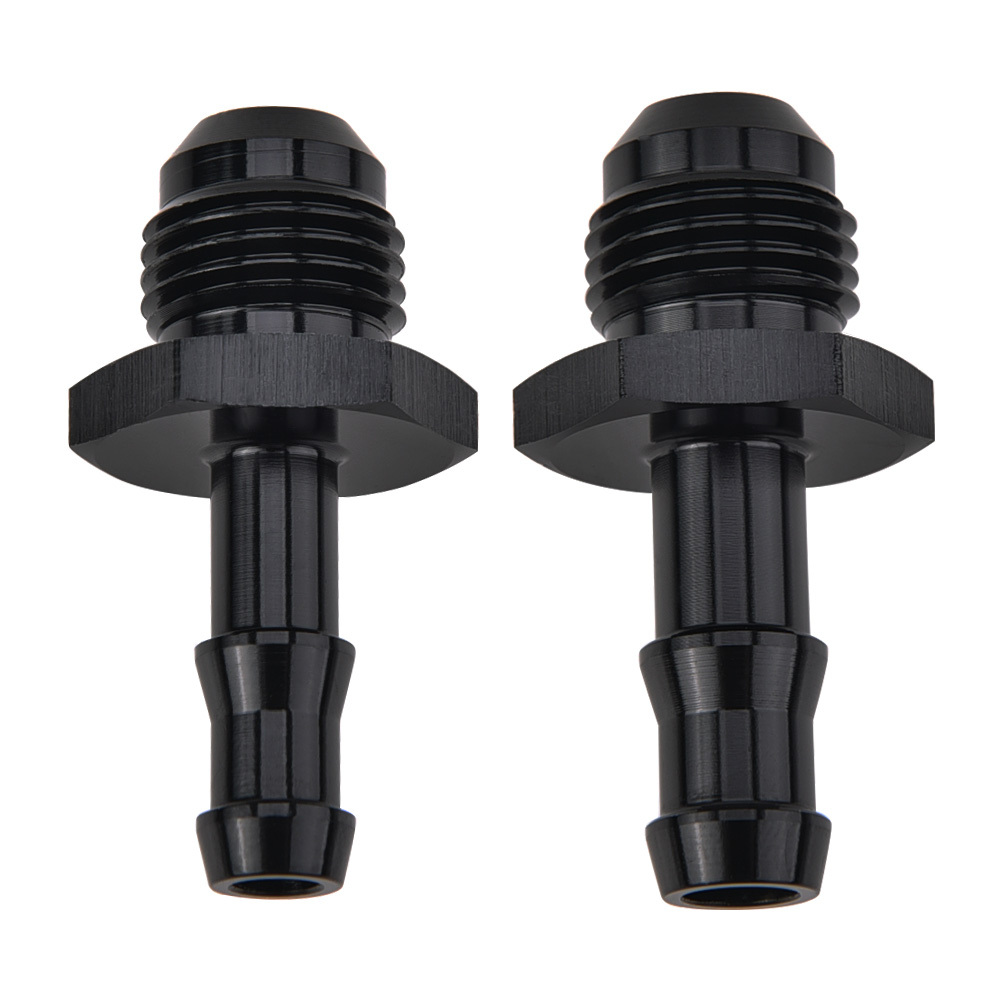AN to Barbed Fitting Adaptor -4 AN to 6mm Black