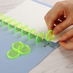 100 Pcs Colorful Disc Binder for Discbound Notebooks/ Planner 24/28mm Mushroom Hole Loose Leaf Binding Discbound Discs